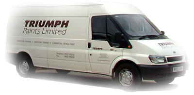 Triumph Paints Deliver Industrial Paints and Coatings to your business